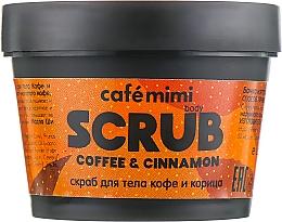 """Voňavky, Parfémy, kozmetika Scrub na telo """"Káva a škorica"""" - Cafe Mimi Body Scrub Coffee & Cinnamon"""