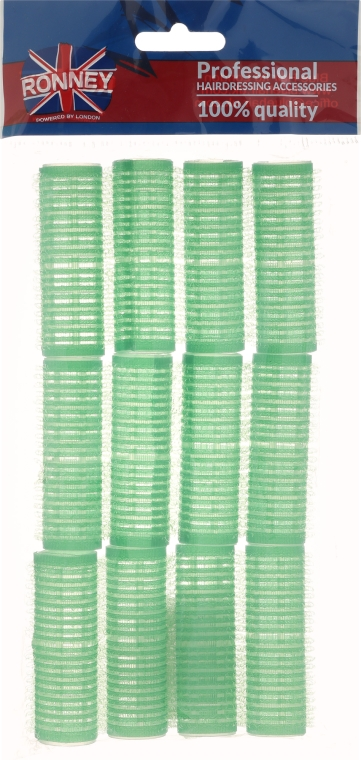 Samodržiace natáčky 20/63, zelené - Ronney Professional Velcro Roller