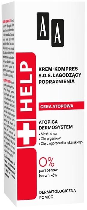 Upokojujúce krémový oklad na tvár - AA Cosmetics Help Krem-kompres S.O.S. Atopic Skin — Obrázky N1