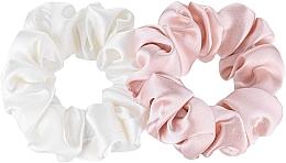 Voňavky, Parfémy, kozmetika Sada gumičiek z prírodného hodvábu Midi - Makeup Scrunchie Set Milk Powder