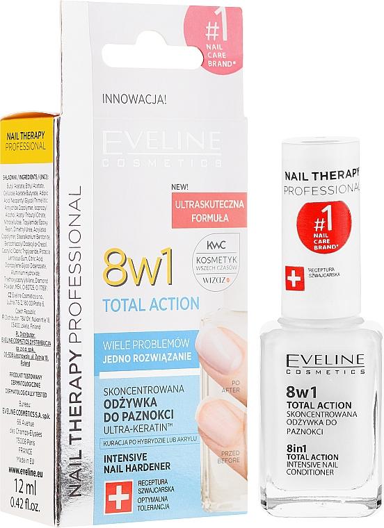 Prostriedky na obnovenie nechtov 8v1 - Eveline Cosmetics Nail Therapy Total Action 8 in 1