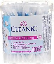 """Voňavky, Parfémy, kozmetika Bavlnené puky """"Classic"""", 100 ks - Cleanic Face Care Cotton Buds"""
