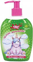 """Voňavky, Parfémy, kozmetika Detský sprchový gél """"Dúhový jednorožec"""", hroznový punč - Chlapu Chlap Bath & Shower Gel"""