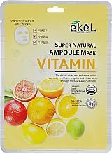 Voňavky, Parfémy, kozmetika Látková maska s komplexom vitamínov - Ekel Super Natural Ampoule Mask Vitamin