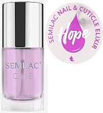 Voňavky, Parfémy, kozmetika Elixírový olej na nechty a kutikuly s vôňou jazmínu a ľalií - Semilac Care Nail & Cuticle Elixir Hope
