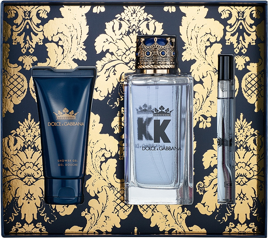 Dolce&Gabbana K by Dolce&Gabbana - Sada (edt/100ml + sh/gel/50ml + edt/mini/10ml)