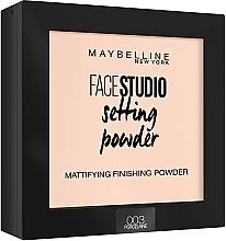 Voňavky, Parfémy, kozmetika Púder na tvár matný fixačný - Maybelline Facestudio Setting Powder