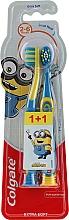 """Voňavky, Parfémy, kozmetika Detská zubná kefka """"Smiles"""", 2-6 rokov, žlto-modrá, extra mäkká - Colgate Smiles Kids Extra Soft"""