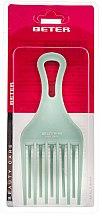 Voňavky, Parfémy, kozmetika Hrebeň na kučeravé vlasy, tyrkysový, 17 cm - Beter Beauty Care