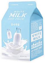 """Voňavky, Parfémy, kozmetika Látková maska hydratačná """"Sladká smotana"""" - A'Pieu Milk One-Pack Hydrating White Milk"""