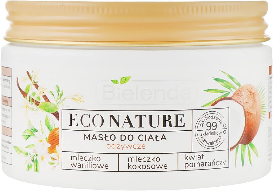 Výživný telový olej - Bielenda Eco Nature Body Butter Vanilla Coconut Milk Orange Blossom