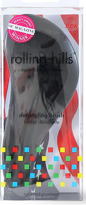 Kefa na vlasy, čierna - Rolling Hills Detangling Brush Travel Size Sky Black — Obrázky N1
