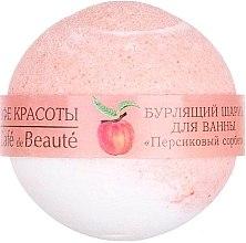 """Voňavky, Parfémy, kozmetika Šumivá bomba do kúpeľa """"Broskyňový sorbet"""" - Le Cafe de Beaute Bubble Ball Bath"""