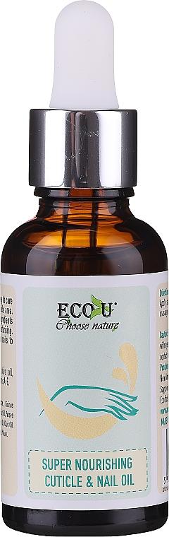 Výživný olej na nechtovú kožičku a nechty - Eco U Super Nourishing Cuticle & Nail Oil
