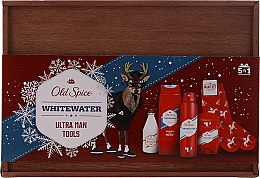 Voňavky, Parfémy, kozmetika Sada - Old Spice Whitewater Wooden (deo/50g + sh/gel/250ml + ash/lot/100ml + deo/spray/150ml)