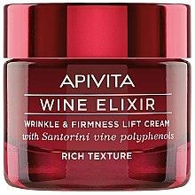 Voňavky, Parfémy, kozmetika Krém-lifting proti vráskam s polyfenolmi Santoriniho vína - Apivita Wine Elixir Wrinkle And Firmness Lift Cream Rich Texture