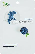 Voňavky, Parfémy, kozmetika Textilná maska s čučoriedkami proti vráskam - Eunyul Daily Care Mask Sheet Blueberry