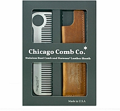 Voňavky, Parfémy, kozmetika Sada - Chicago Comb Co CHICA-1-SET (comb/1pcs + case/1pcs) (1 ks)