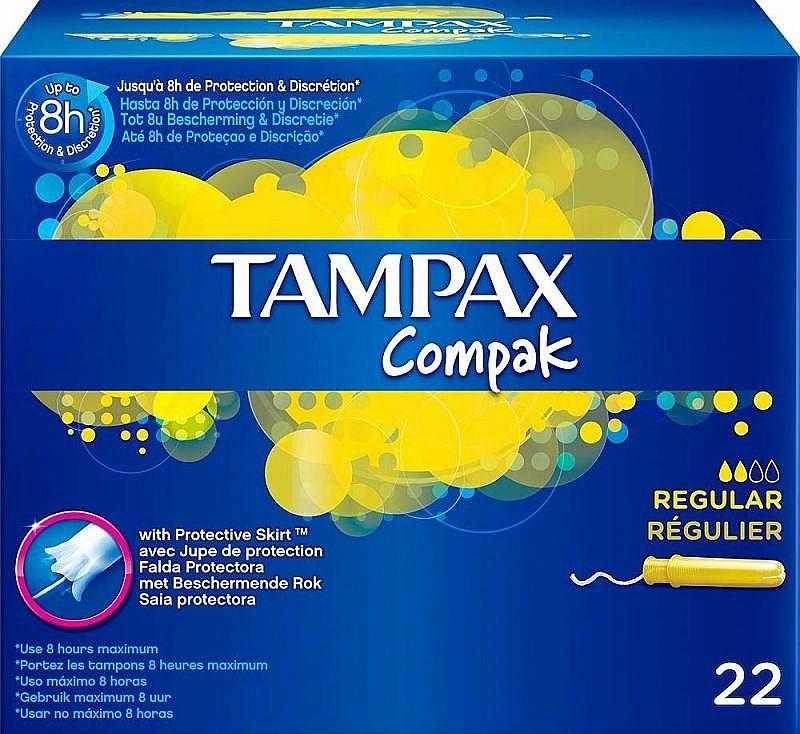 Tampóny s aplikátorom, 22ks - Tampax Compak Regular — Obrázky N1