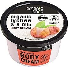 """Voňavky, Parfémy, kozmetika Krém na telo """"Ružový liči"""" - Organic Shop Body Cream Organic Lichee & Oils"""