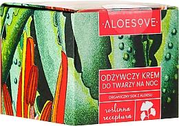 Voňavky, Parfémy, kozmetika Výživný nočný krém na tvár - Aloesove