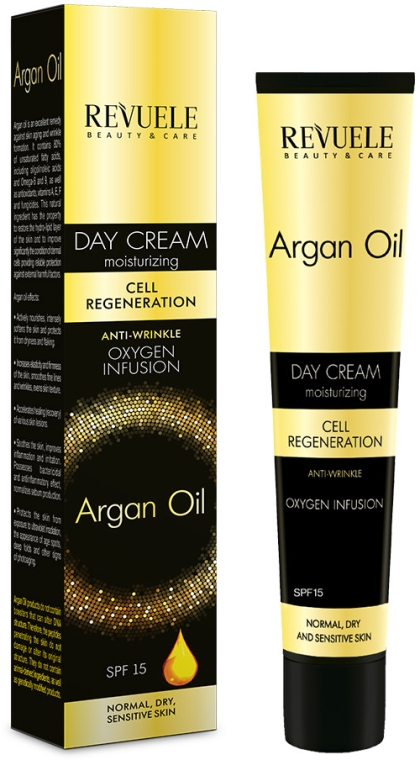 Denný krém na tvár - Revuele Argan Oil Day Cream