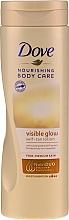 Voňavky, Parfémy, kozmetika Telový lotion s efektom samoopaľovania - Dove Visible Glow Gradual Self-Tan Lotion Fair-Medium Skin