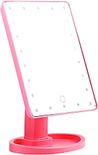 Voňavky, Parfémy, kozmetika Veľké zrkadlo na líčenie, ružové - Lewer
