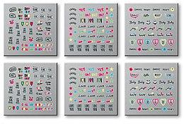 Voňavky, Parfémy, kozmetika Samolepky na nechty, 6 ks. 42300 - Top Choice Words Neon