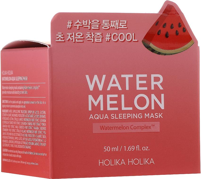 Hydratačná nočná maska na tvár s extraktom z melónu - Holika Holika Watermelon Aqua Sleeping Mask