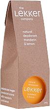 """Voňavky, Parfémy, kozmetika Krémový dezodorant """"Mandarínka-citrón"""" - The Lekker Company Natural Deodorant Mandarin & Lemon"""