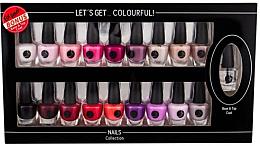 Voňavky, Parfémy, kozmetika Sada - Cosmetic 2K Let'S Get Colourful! (nail/laquer/19x3,5ml)