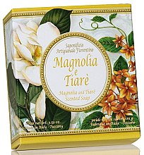 "Voňavky, Parfémy, kozmetika Prírodné mydlo ""Magnolia a Tiare"" - Saponificio Artigianale Fiorentino Magnolia & Tiare Soap"