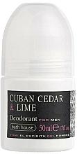 Voňavky, Parfémy, kozmetika Bath House Cuban Cedar & Lime - Roll-on dezodorant
