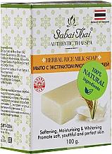 Voňavky, Parfémy, kozmetika Mydlo z ryžových otrúb - Sabai Thai Herbal Rice Milk Soap