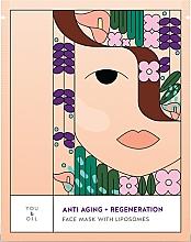 Voňavky, Parfémy, kozmetika Obnovujúca maska na tvár - You & Oil Anti-Aging & Regeneration Face Mask With Liposomes