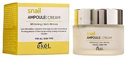 "Voňavky, Parfémy, kozmetika Krém na tvár ""Slimačí mucín"" - Ekel Snail Ampoule Whitening Anti-Wrinkle Cream"
