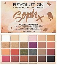 Voňavky, Parfémy, kozmetika Paleta tieňov na viečka - Makeup Revolution Soph X Eyeshadow Palette