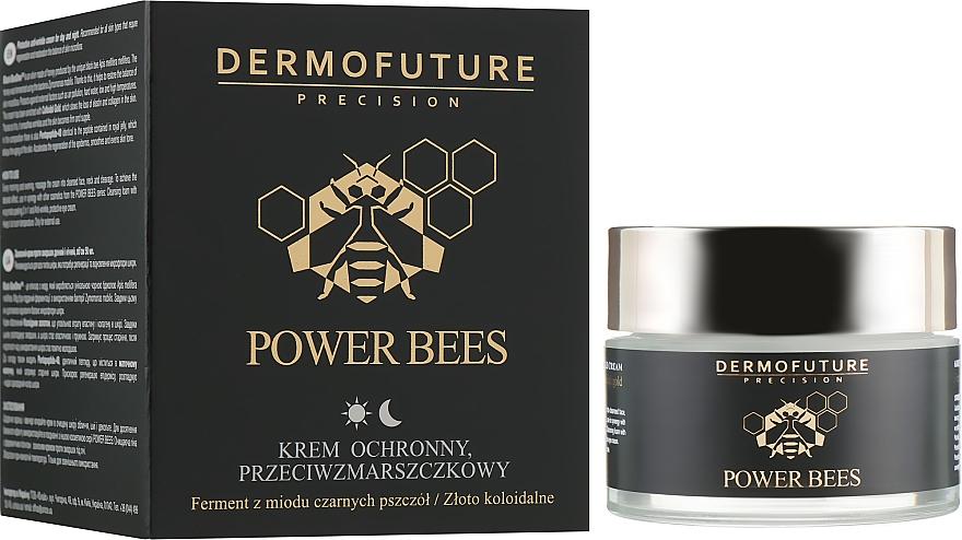 Ochranný krém na tvár proti vráskam - Dermofuture Power Bees Protective Anti-wrinkle Cream