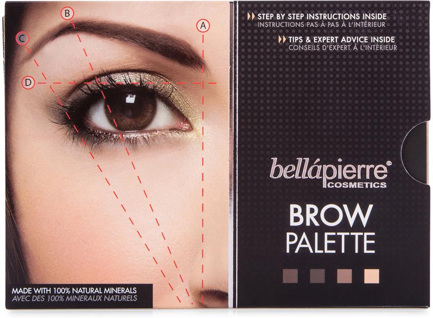 Tiene na obočie - Bellapierre Cosmetics Brow Palette — Obrázky N2