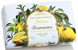"""Voňavky, Parfémy, kozmetika Prírodné mydlo """"Citrón a rozmarín"""" - Saponificio Artigianale Fiorentino Lemon & Rosemary Soap"""