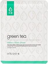 Voňavky, Parfémy, kozmetika Látková maska pre mastnú a kombinovanú pleť so zeleným čajom - It's Skin Green Tea Watery Mask Sheet