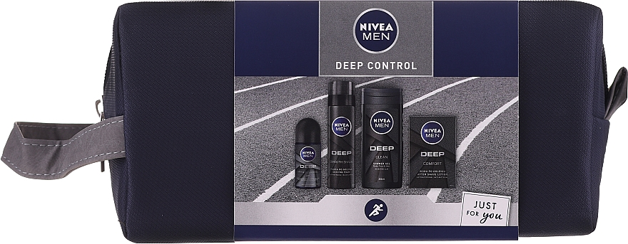 Sada - Nivea Men Deep Control 2020 (sh/gel/250ml + ash/lot/100ml + foam/200ml + deo/50ml + bag)