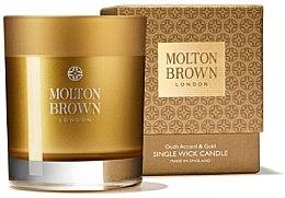 Voňavky, Parfémy, kozmetika Molton Brown Mesmerising Oudh Accord & Gold Single Wick Candle - Parfumovaná sviečka