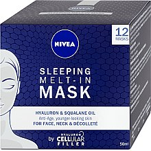 Voňavky, Parfémy, kozmetika Nočná maska na tvár - Nivea Cellular Filler Sleeping Melt-In Mask