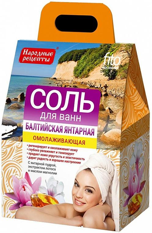 """Omladzujúca soľ do kúpeľa """"Baltijská jantarová"""" - Fito Kosmetik"""