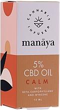 Voňavky, Parfémy, kozmetika Konopný olej - Manaya 5 % CBD Oil Calm