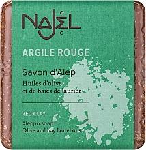 """Voňavky, Parfémy, kozmetika Mydlo Aleppo """"Červená hlina"""" - Najel Aleppo Soap with Red Clay"""