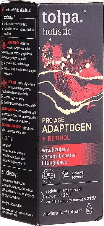 Revitalizačné liftingové sérum a booster na tvár - Tolpa Holistic Pro Age Adaptogen + Retinol