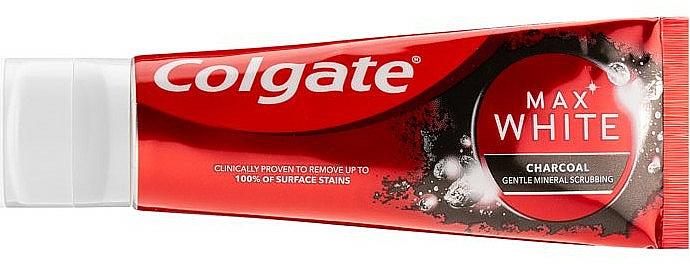 Bieliaca zubná pasta s dreveným uhlím - Colgate Max White Charcoal — Obrázky N2